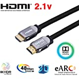 DHIVIS Ultra HDMI 2.1– 2 Meters, Speed 48Gbps- 4K (4096 x 2160) 120hz - HDCP 2.2, HDR 10 and Dolby Vision (2 Meter)