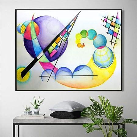 YCOLLC Lienzo de Pintura Planetas espaciales Kandinsky ...