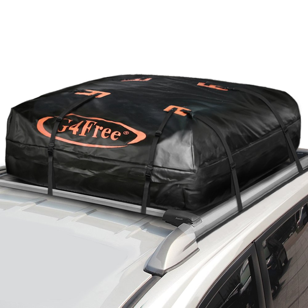 Amazon G4Free 185 Cubic Feet Car Top Carrier Easy To Install Soft Roof Cargo Bag With Wide Straps Works Or Without Rack Automotive