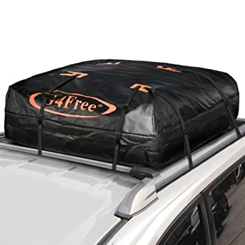 G4Free 185 Cubic Feet Car Top Carrier Easy To Install Soft Roof Cargo Bag