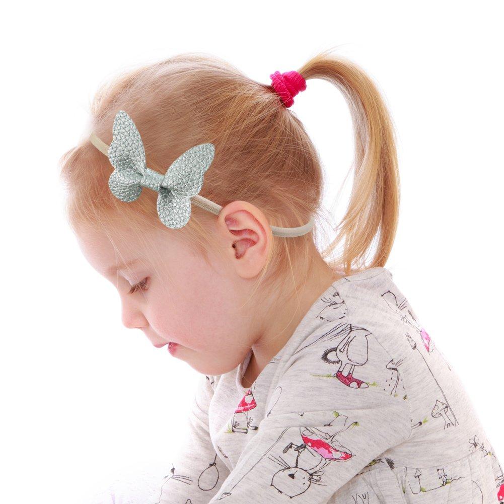 Amazon.com  Nancyus005 Baby Girl Butterfly Headbands Soft Elastic Nylon Hairband  Hair Ties Hair Accessories for Newborn Infant Toddlers 965449020cfc