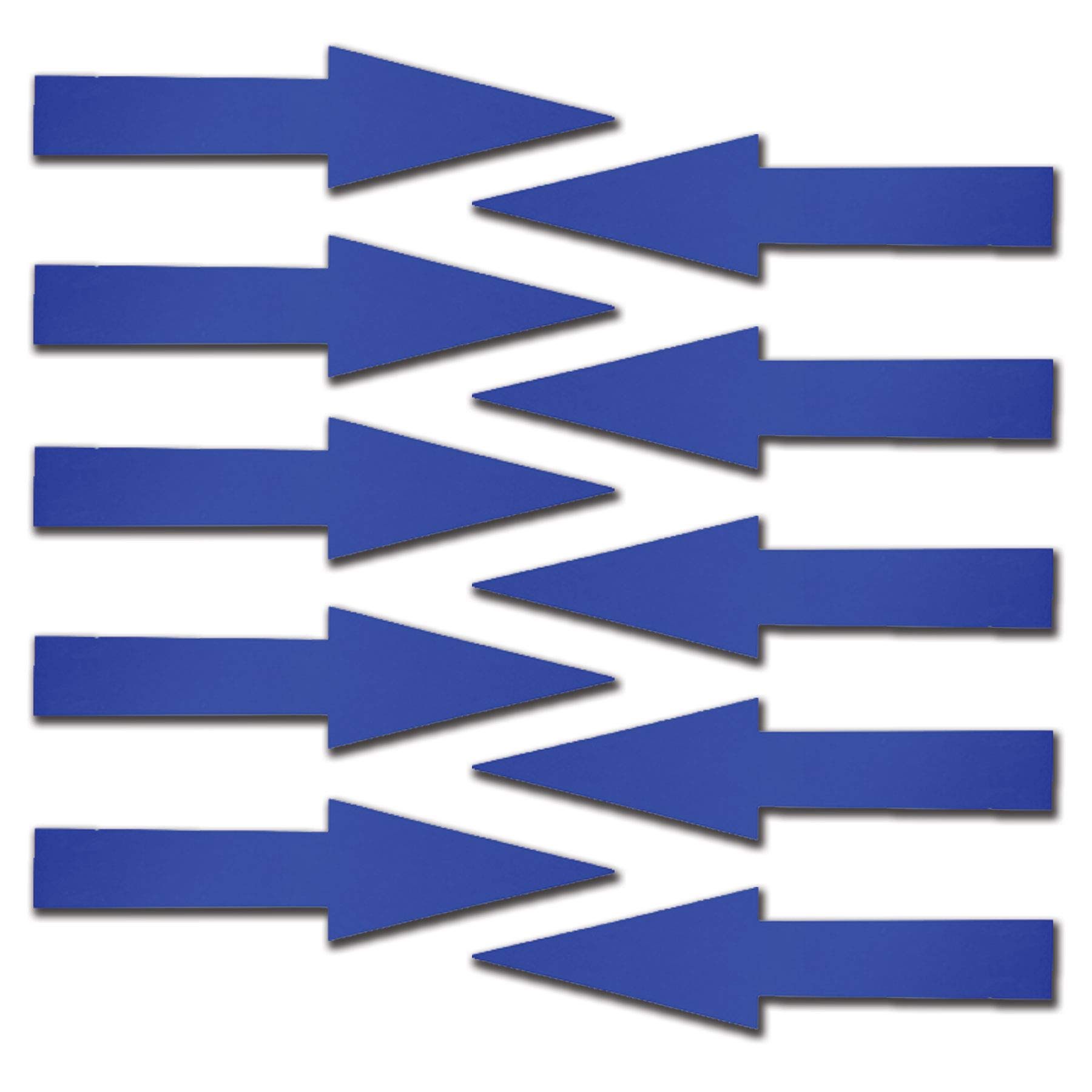 Visibility Signage Experts 11 Inch Blue Glossy Arrow Decal Sticker Store Sign - Blue - Pack of 10