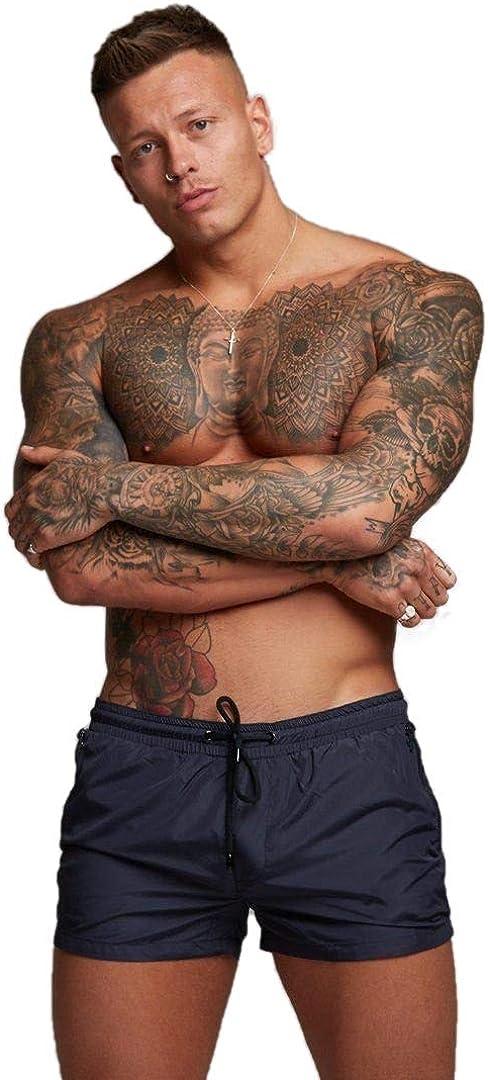 Boxer per Nuoto Ducomi Bob Costume Uomo Mare Spiaggia e Surf Pantaloncino Corto ed Elastico ad Asciugatura Veloce Beach Volley Pantaloncini da Bagno e Piscina con Doppia Tasca