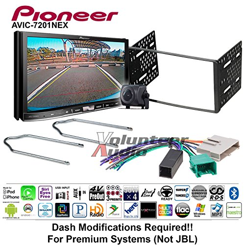 Volunteer Audio Pioneer AVIC-7201NEX Double Din Radio Install Kit w/GPS Navigation Apple CarPlay Android Auto Fits 1995-1997 Ford Explorer, Ford Ranger, Lincoln Town Car ()