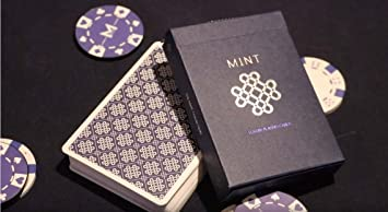 Mint 2 Playing Cards Poker Spielkarten Cardistry Blueberry