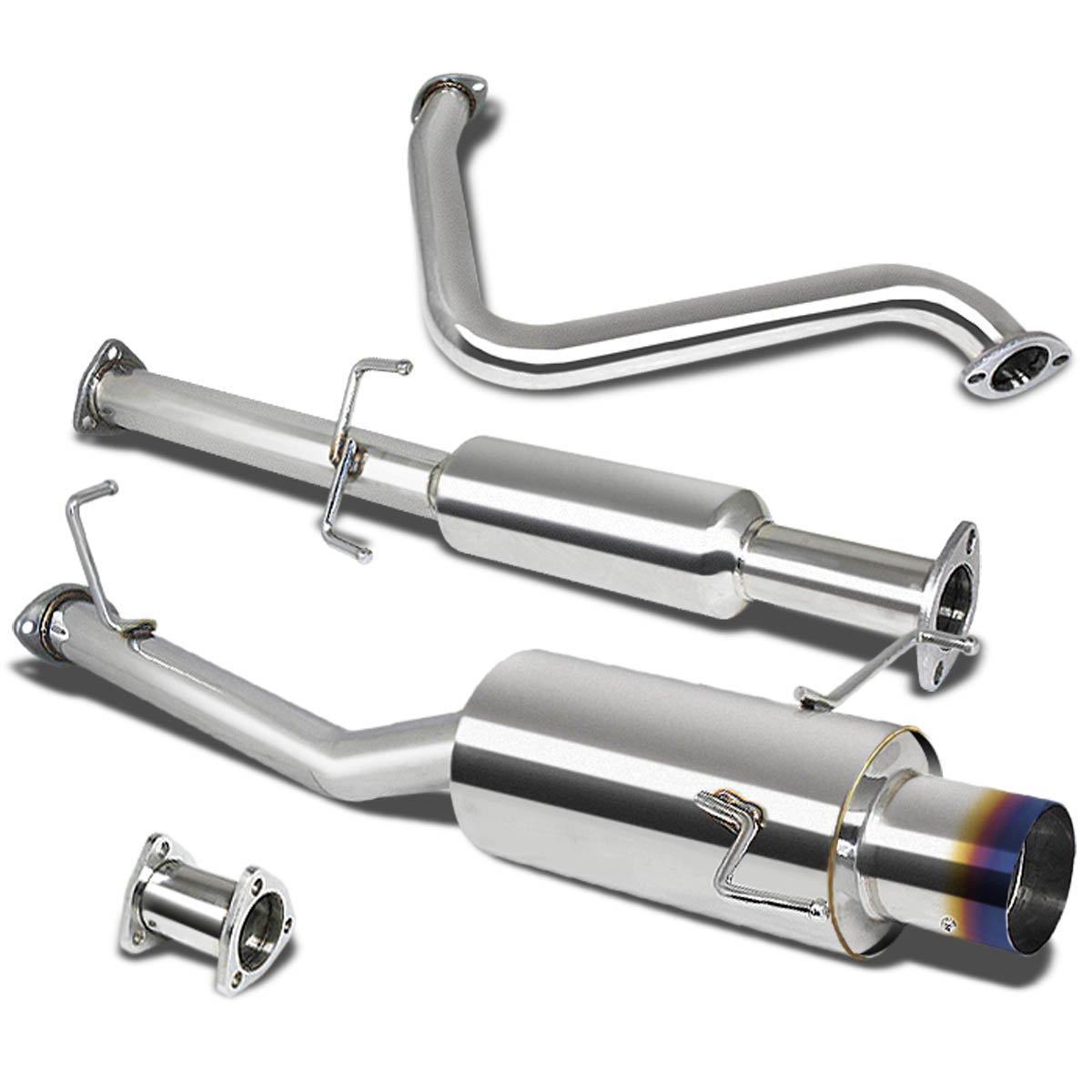 DNA Motoring CBE-HP97-BT CBEHP97BT Stainless Steel Catback Exhaust System