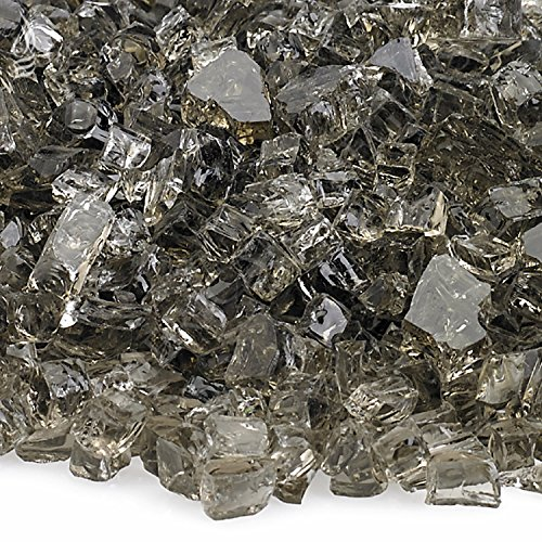 American Fireglass 10-Pound Fire Glass with Fireplace Glass and Fire Pit Glass, 1/4-Inch, Bronze ()