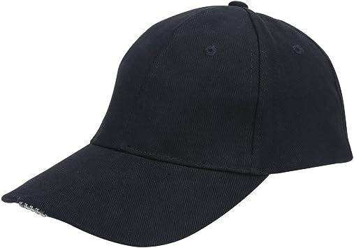 VGEBY Gorra de Béisbol Gorras Pesca LED Sombrero con Linterna para ...