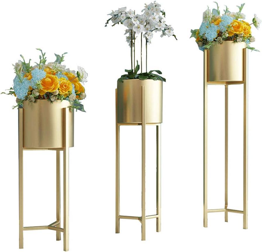 Aspect Contemporain Or Plante Pot avec pieds en métal de nos maisons avec des plantes.