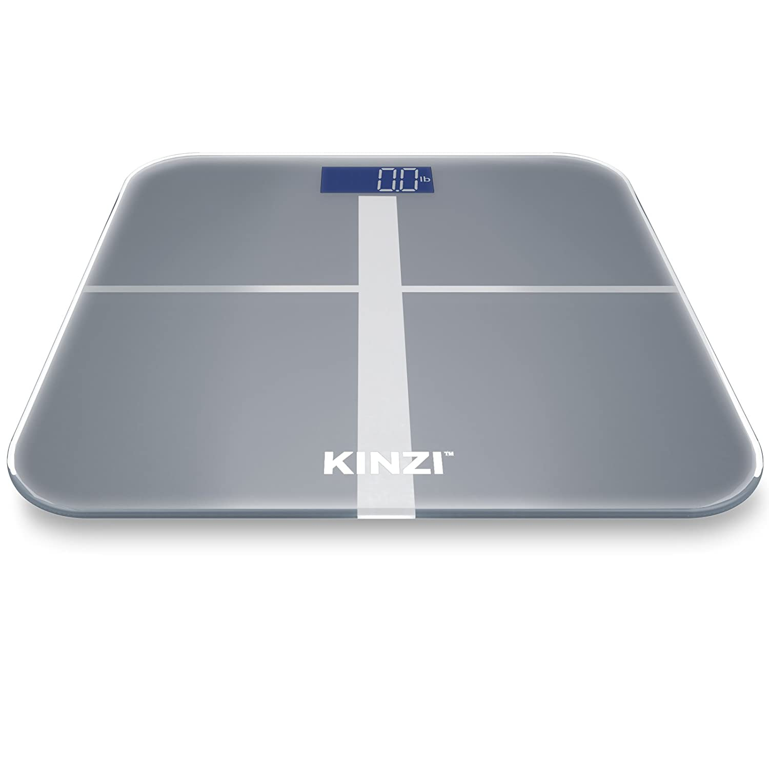 amazoncom kinzi precision digital bathroom scale w extra large lighted display 400 lb capacity and step on technology health personal care - Bathroom Scale Reviews