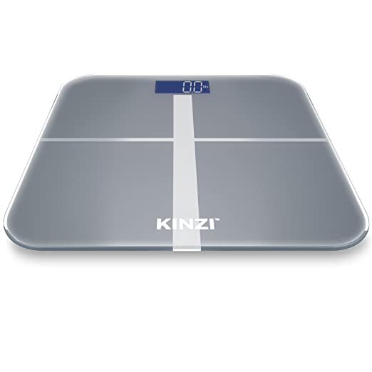 """Kinzi Precision Digital Bathroom Scale w/ Extra Large Lighted Display, 400 lb. Capacity and """"Step-On"""" Technology [2016 VERSION]"""