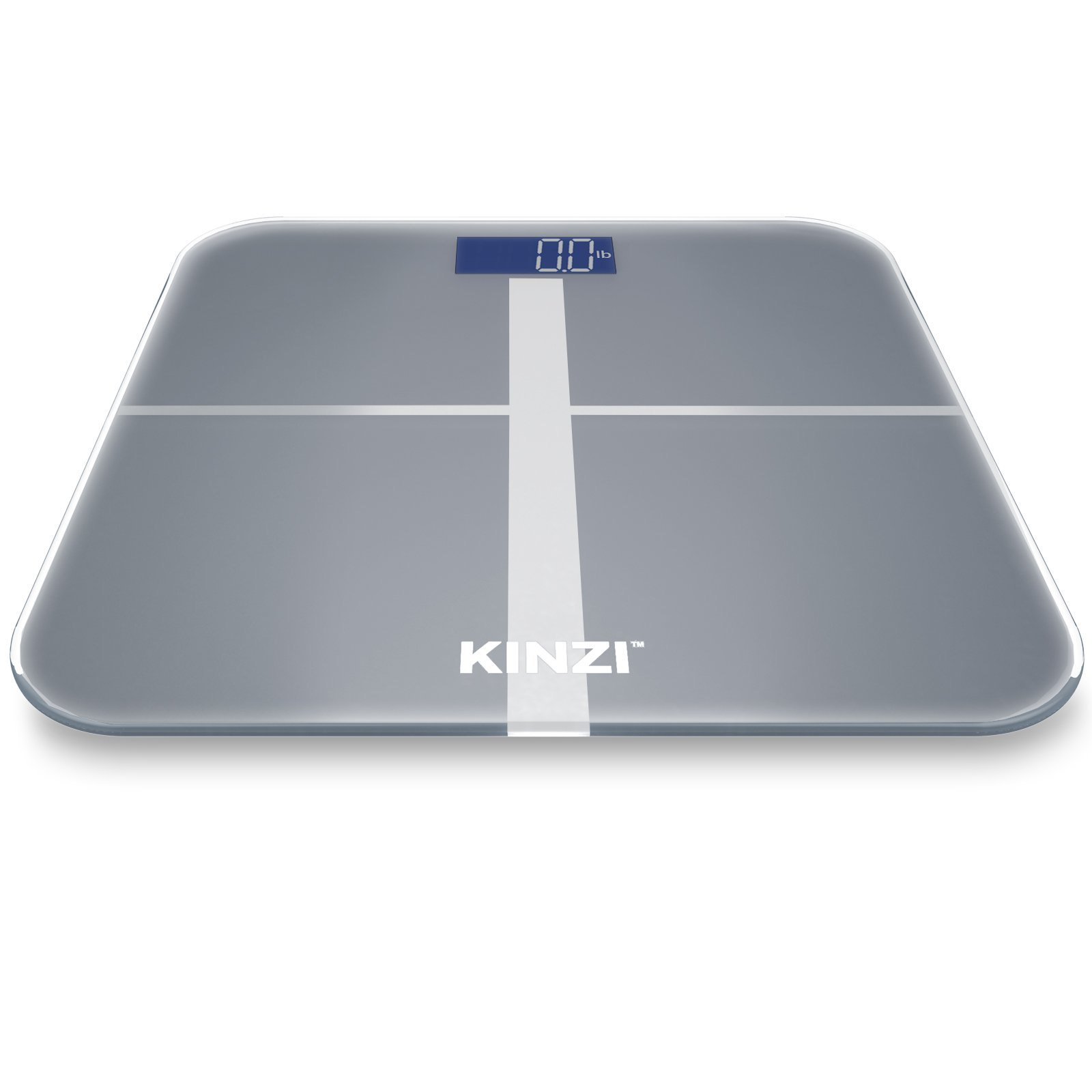Kinzi Precision Digital Bathroom Scale w/ Extra Large Lighted Display, 400 lb. Capacity and ''Step-On'' Technology