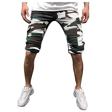 MMUJERY Pantalones Hombre-Pantalones Cortos Hombre-Pantalones ...