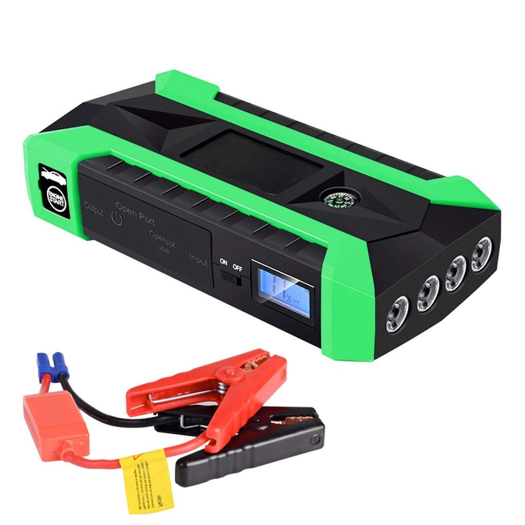 1KTon 89800mAh 12V LCD 4 USB Car Jump Starter Pack Booster Charger Battery Power Bank by 1KTon