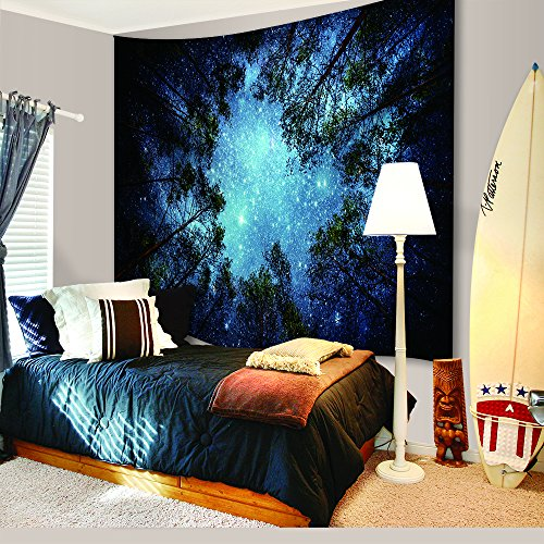 Universe Galaxy Star Wall Tapestry, IMEI Multi Purpose Outer Space Wall Hanging Mural Art Decoration Tapestry Sofa Cover Beach Blanket Dorm Decor (51X60 Inch, Forest (Halloween Wall Mural Ideas)