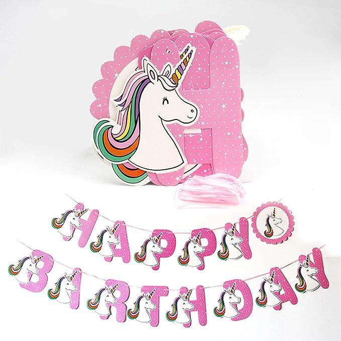 La Fiesta De Cumpleaños Del Unicornio Decoración Del Partido ...