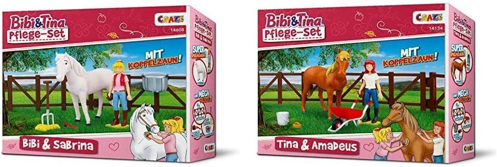 Reitzu… CRAZE BIBI /& TINA Turnierset mit Reiterin Pferd Bibi und Sabrina inkl