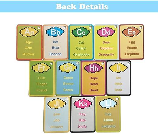 Doodle Palabra Tarjetas con Caja de Color,Mi Primera Palabra mágica Cartas Juegos,Aqua Colorear Dibujo Tarjeta con 2 Agua Pen-Carta: Amazon.es: Hogar
