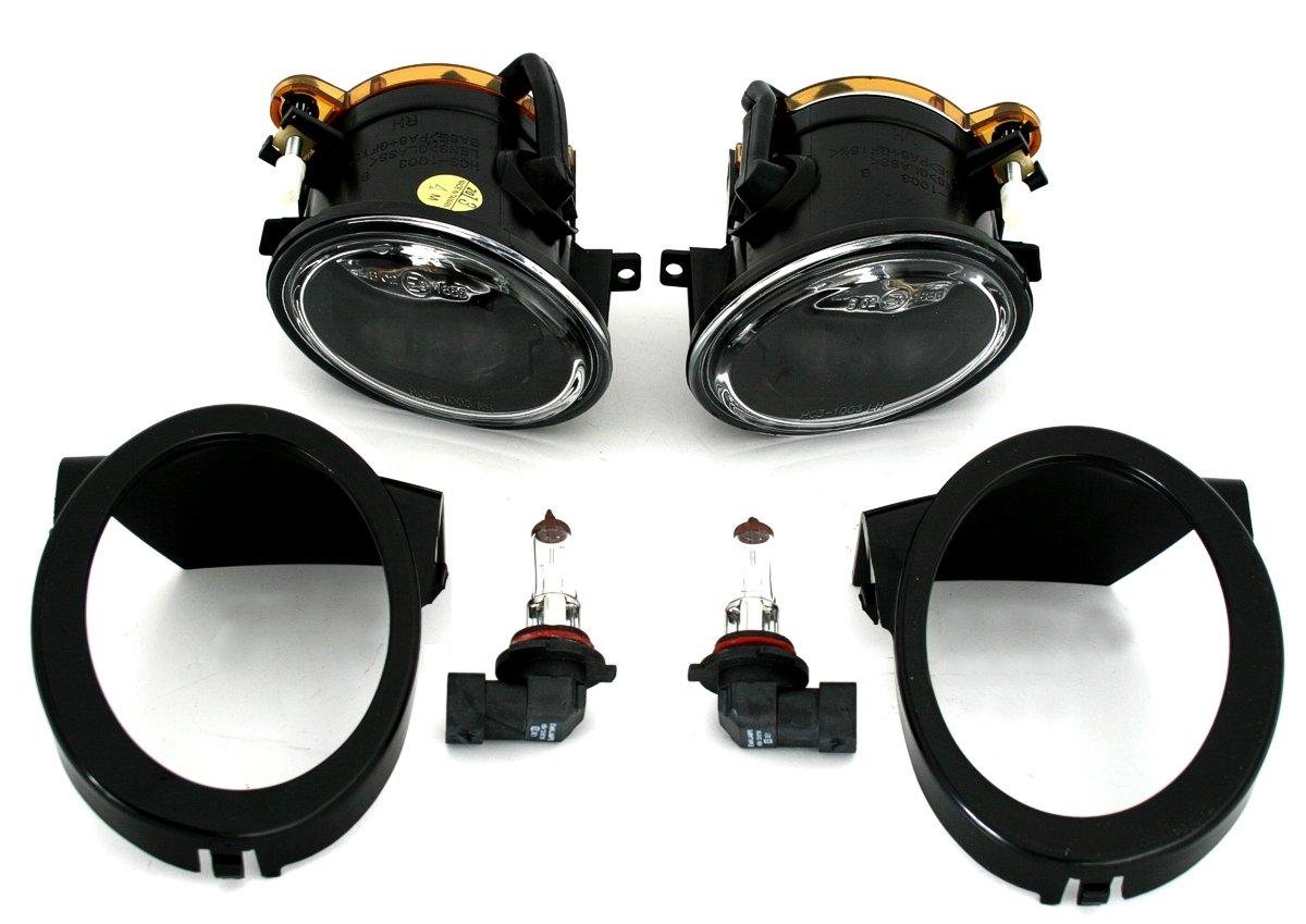 Klarglas Chrom rechts links Nebelscheinwerfer Set f/Ã/¼r M-Technik Sto/Ã/Ÿstange