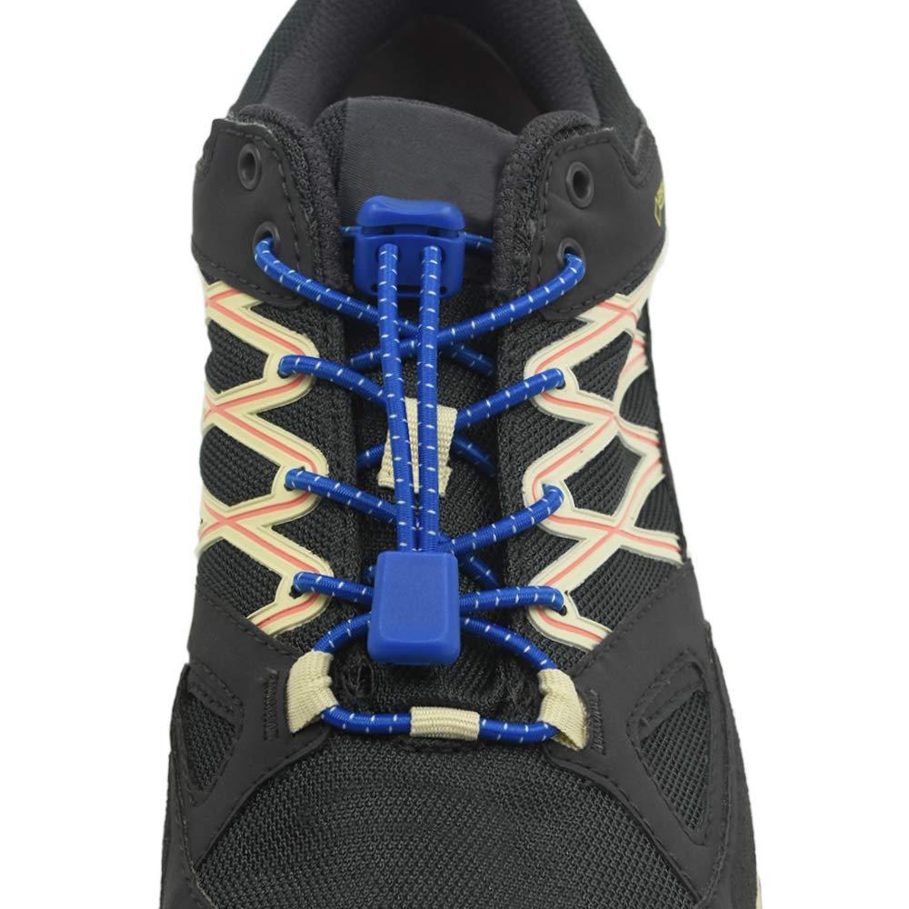 riemot Elastische Schnürsenkel mit Schnellverschluss Schnellschnürsystem Schuhband für Schuhe Ohne Binden für Sportschuhe Wanderschuhe Arbeitsschuhe