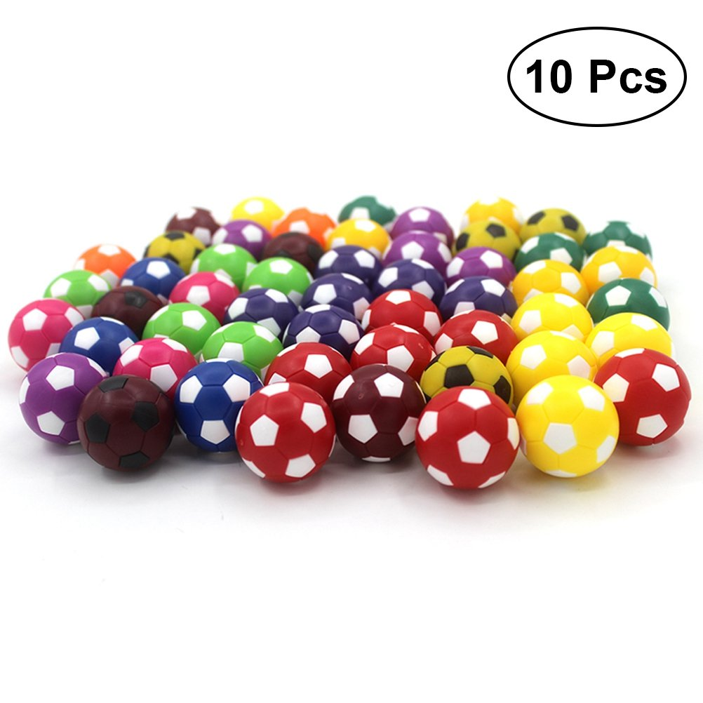 TOYMYTOY 36MM Resco Table Soccer Kids Footballs Replacements Mini Soccer Balls 10pcs (Assorted Color)