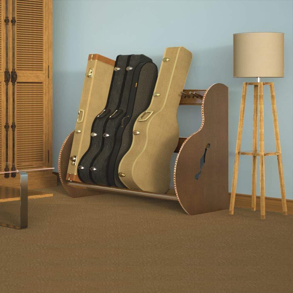 The Studio Deluxe Guitar Case Stand Studio 8, Walnut Finish Multiple colors