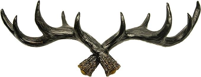 Tête de Cerf Patère orignal Crochet Serviette Crochet Noir Garde-robe Hirsch