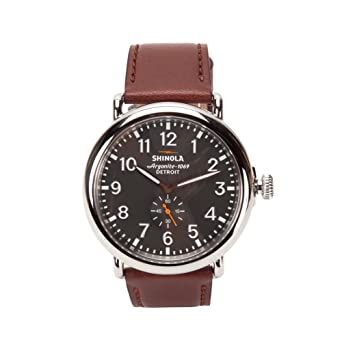 458990030 Amazon.com: Shinola Runwell 47mm Grey Dial/Natural Leather 20018330 ...