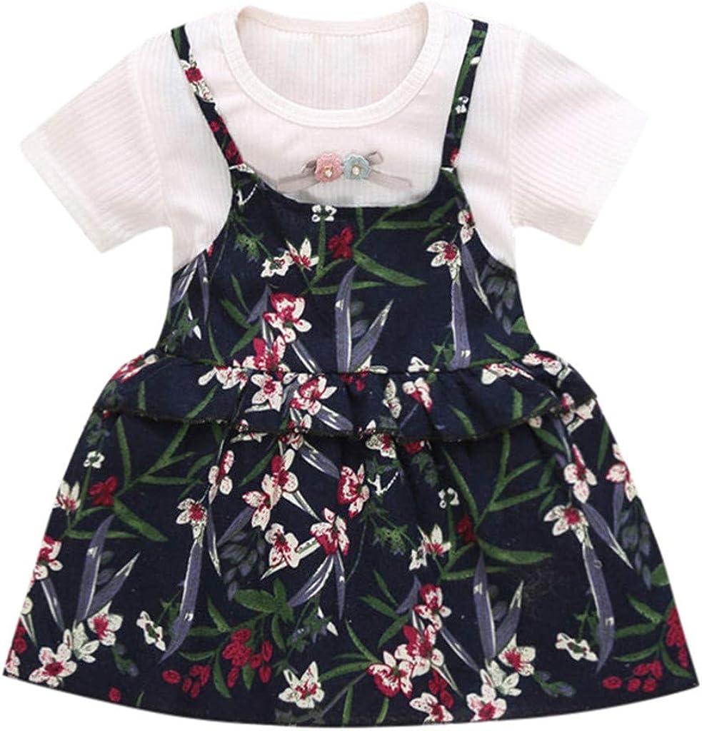 Beikoard Robes Filles B/éb/é Princesse Dress Volants /à Manches Courtes Jupe Tutu Dress Girls Skirt Deguisement Enfant El/égant