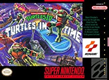 Teenage Mutant Ninja Turtles IV: Turtles in Time Super Nintendo - SNES - Reproduction Video Game Cartridge with Custom Replica Miniature Box