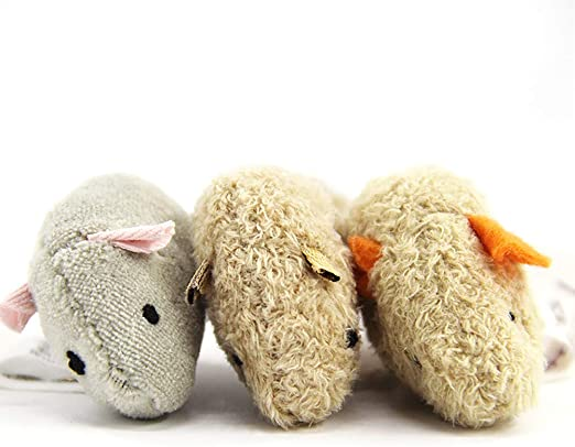 Hilai Cat Productos Ratones Animales Peluche Gato Juguetes Rata chirrido Ruido Sonido simulación ratón morder rascarse Jugar Suministros descompresión Juguetes 3pcs/Pack: Amazon.es: Productos para mascotas