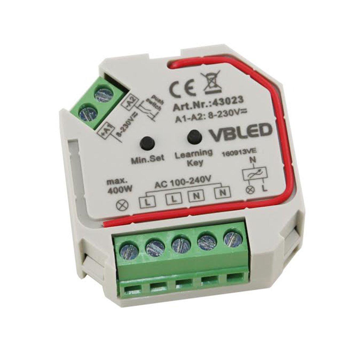 VBLED® 230V Universal-Dimmer für LED oder Halogen bis zu 400W ...