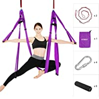 Etophigh Yoga Stretch Belt Hip Resistance Bands Booty Leg Exercise Elastic Bands Gym Yoga Stretching Training Fitness Workout No-Roll Up Circle Band