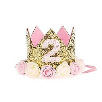 Amazon.com: Kreatwow - Corona de 2º cumpleaños, decoración ...