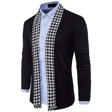 HX fashion Chaqueta De Punto Abierto De Los Hombres Chaqueta ...