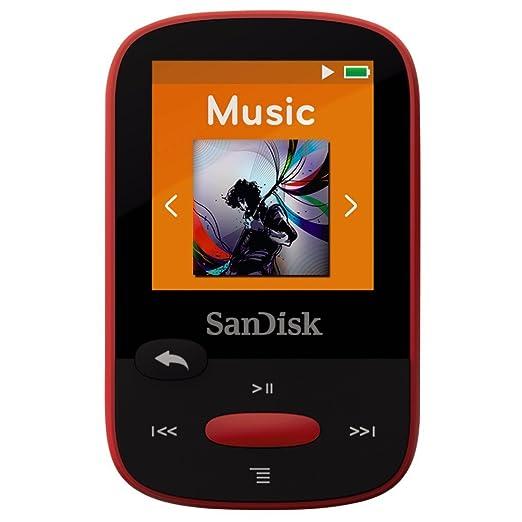 329 opinioni per SanDisk Sansa Clip Sport Lettore MP3 4 GB, Rosso
