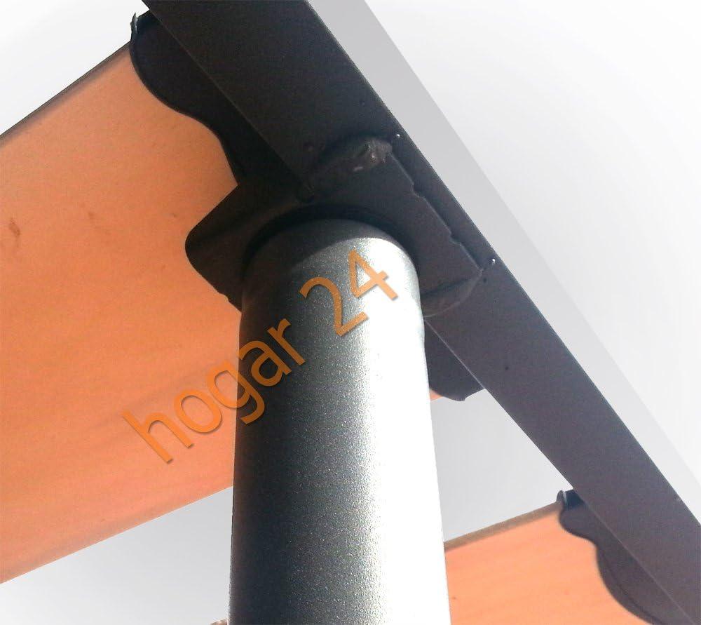MUEBLIX | Somier para Cama 105 x 190 cm | Con Patas | Madera de Chopo y Estructura de Tubos de Acero | Para Camas Individuales o Nido