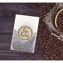 Love Is Brewing Wedding Stickers, Wedding Favors for Coffee, Tea or Beer, Wedding Sitcker