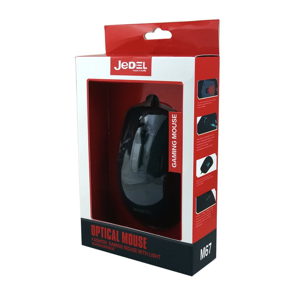 c58ac1299d0 JEDEL M67 USB Wired 7 Color LED Gaming Optical Mouse: Amazon.co.uk:  Electronics