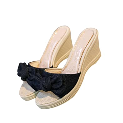 Summer Sandals Inkach Fashion Women Simple Sandals Bowknot Ladies Shoes