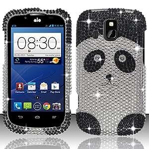 Cellphone Cover For ZTE Overture Z995 (AIO Wireless) Full Diamond Design Cover - Panda Bear FPD