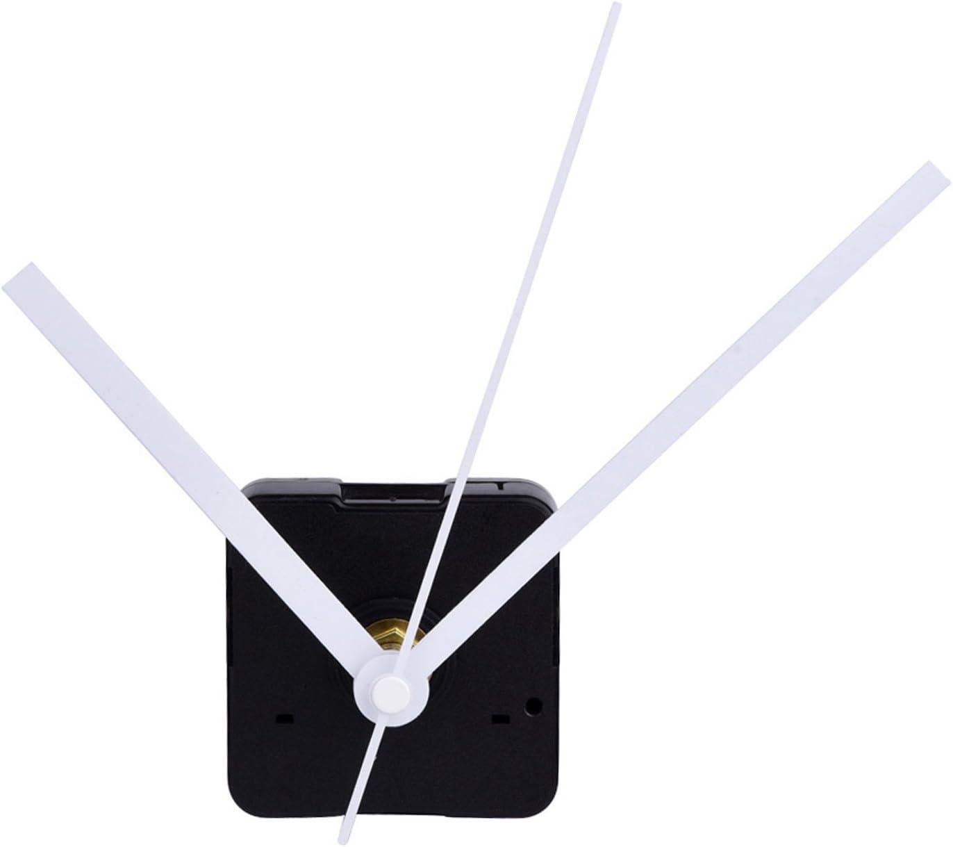 Mudder Silence Quartz Clock Movement, 11/25 Inch Maximum Dial Thickness, 4/5 Inch Total Shaft Length (White)