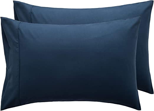 Made in USA.Select size Navy Cameron web  Pillow Cover Cotton Sham cover