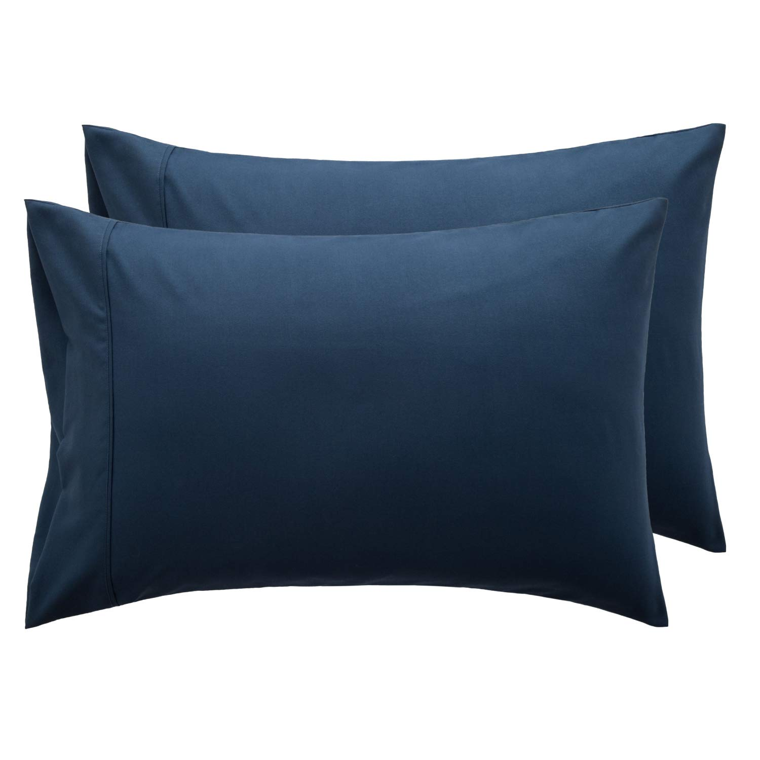 Bedsure Navy Pillowcase Set - Queen Size (20 x 30 inches) Bed Pillow Cover - Brushed Microfiber, Wrinkle, Fade & Stain Resistant - Envelop Closure Pillow Case Set of 2