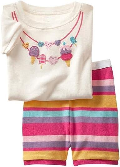 Hooyi Baby Girl Sleepwear Cotton Children Snowman Pajamas Set