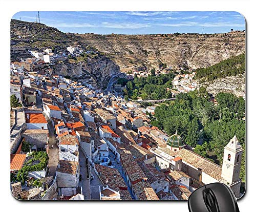 (Mouse Pad - Alcala Del Jucar Hillside Village Valley Mountain 1)