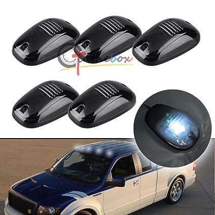 HERCHR - 5 lámparas de techo para coche, camión, SUV, 4x4, lente ...