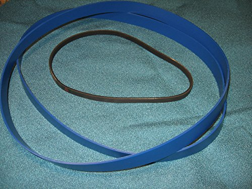 BLUE MAX URETHANE BAND SAW TIRES SET AND DRIVE BELT FOR TTI EBASM350-01 BAND SAW by Generic