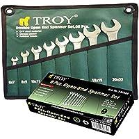 Troy T 21508 Açık Ağız Anahtar Takımı, 8 Parça, 6/22 Mm