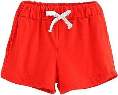 Ularma Verano Niños Pantalones Cortos de Algodón Niños y Niñas ...